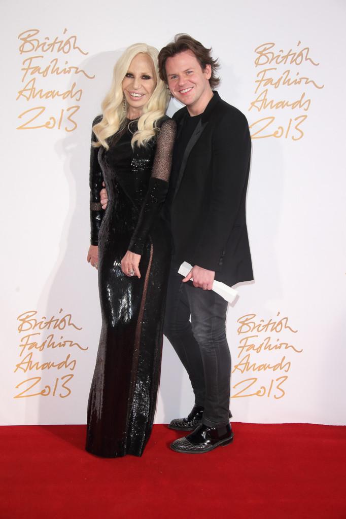 Donatella Versace & Christopher Kane (winner, Womenswear Designer of the Year)