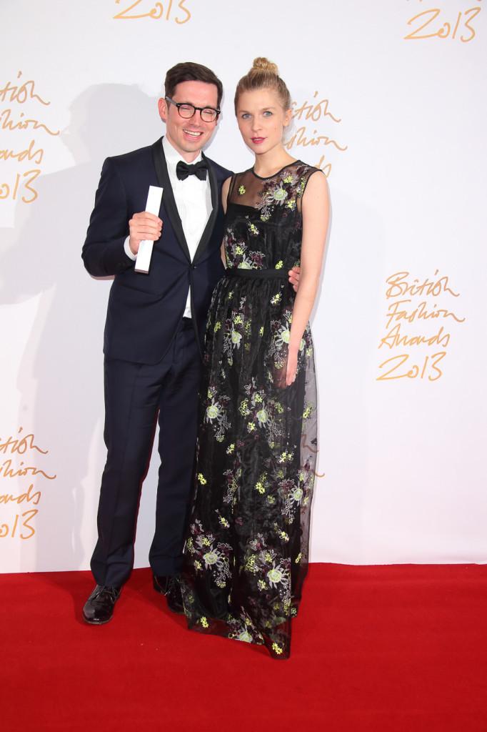 Erderm Moralioğlu (winner, Red Carpet Designer of the Year) & Clémence Poésy