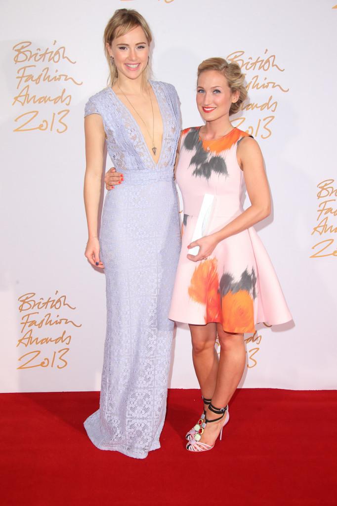 Suki Waterhouse & Sophia Webster (winner, Emerging Accessories Designer)