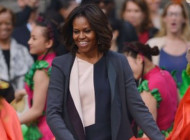 Michelle Obama wearing Narciso Rodriguez