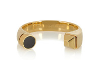 SAINT LAURENT Gold-plated onyx cuff