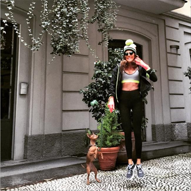 Anna Dello Russo Fitness Instagram