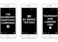 Burberry e Mario Testino su Snapchat