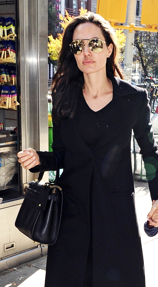 Angelina Jolie with Versace Sunglasses - ZoeMagazine.net