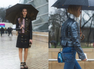 Paris Street Style under the rain 2016