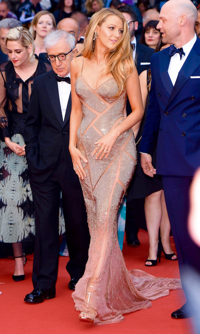 Blake Lively, Woody Allen and Kristen Stewart attend to opening ceremony for the 69th Film Festival in Cannes, France Pictured: Blake Lively Ref: SPL1280134 110516 Picture by: Splash News Splash News and Pictures Los Angeles:310-821-2666 New York: 212-619-2666 London: 870-934-2666 photodesk@splashnews.com