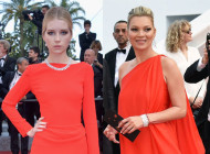 Kate and Lottie Moss…Red Red Carpet at Cannes 2016
