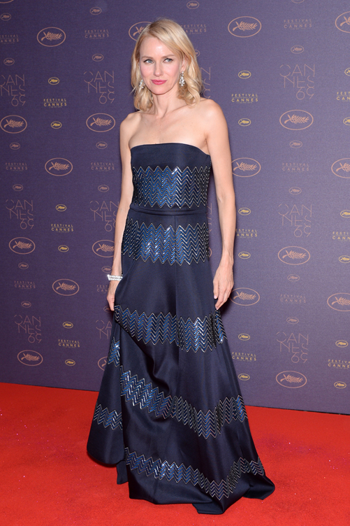 Naomi Watts arrives at the Opening Gala Dinner during The 69th Annual Cannes Film Festival on May 11, 2016 in Cannes, France. (Photo by Dominique Charriau)
