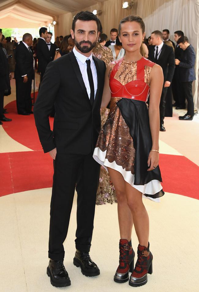 Nicolas Ghesquiere and Alicia Vikander