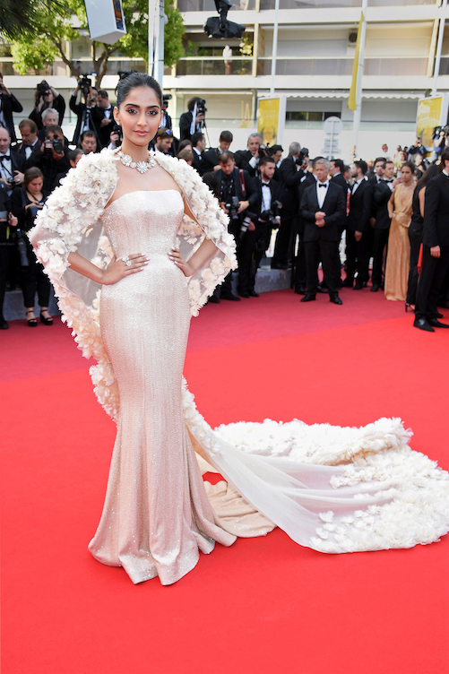 CANNES, FRANCE - MAY 16: Sonam Kapoor attends the 'Loving' premiere during the 69th annual Cannes Film Festival at the Palais des Festivals on May 16, 2016 in Cannes, . (Photo by Venturelli/WireImage)