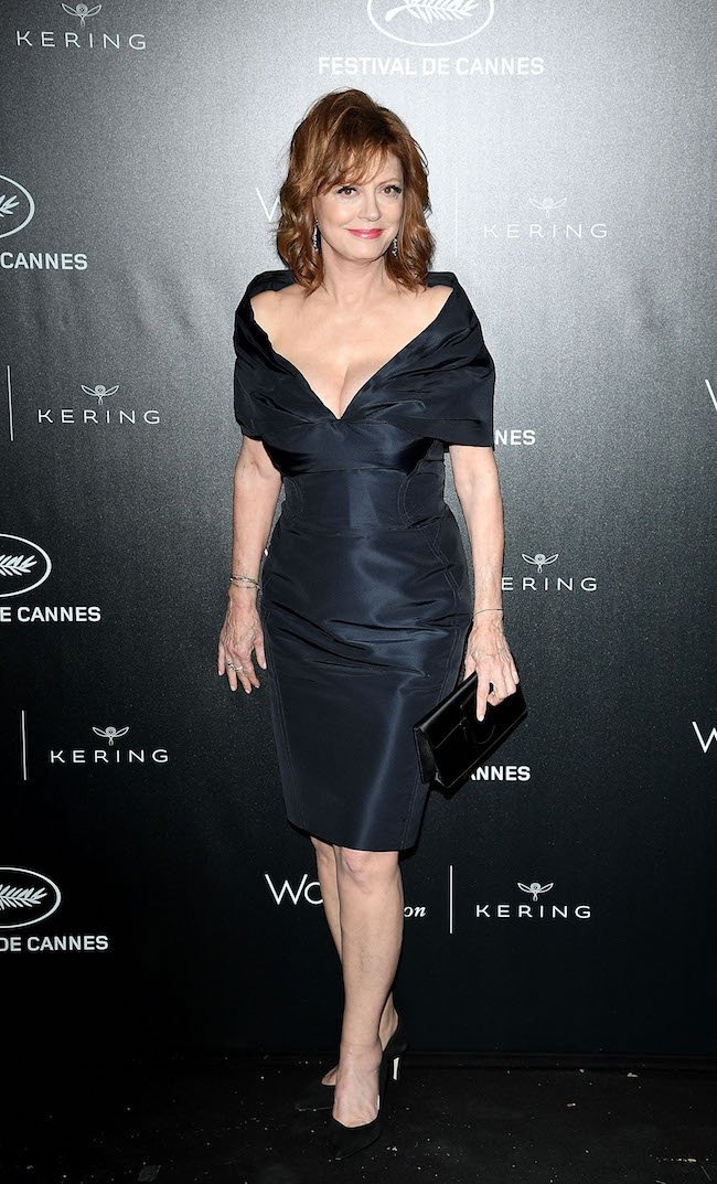 CANNES, FRANCE - MAY 15: Susan Sarandon attends the Kering And Cannes Film Festival Official Dinner at Place de la Castre on May 15, 2016 in Cannes, France. (Photo by Venturelli/Getty Images for Kering)