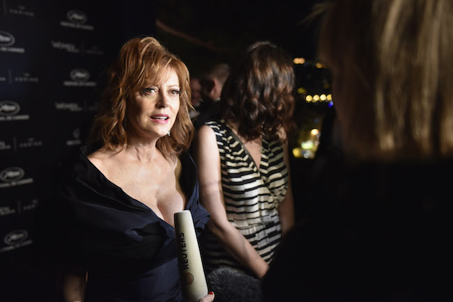 CANNES, FRANCE - MAY 15: Susan Sarandon attends the Kering And Cannes Film Festival Official Dinner at Place de la Castre on May 15, 2016 in Cannes, France. (Photo by Clemens Bilan/Getty Images for Kering)