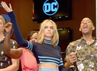 Cara Delevingne in Versace at Comic-Con International