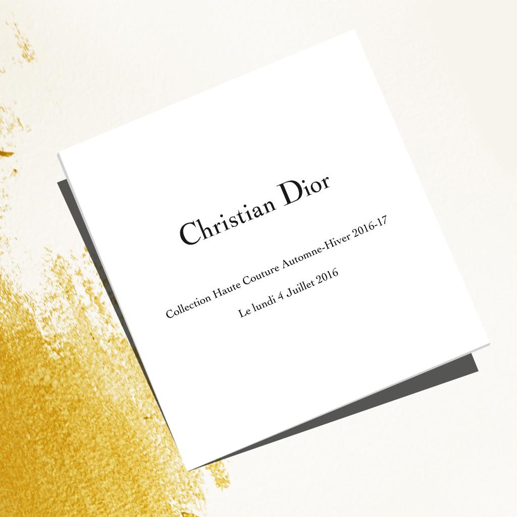Dior HC FW 2016-2017 invitation_Instagram