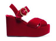 PRADA Two-tone velvet sandals