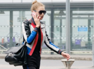 Gigi Hadid spotted in London in Versace