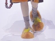 LFW: the new must have is furry slippers