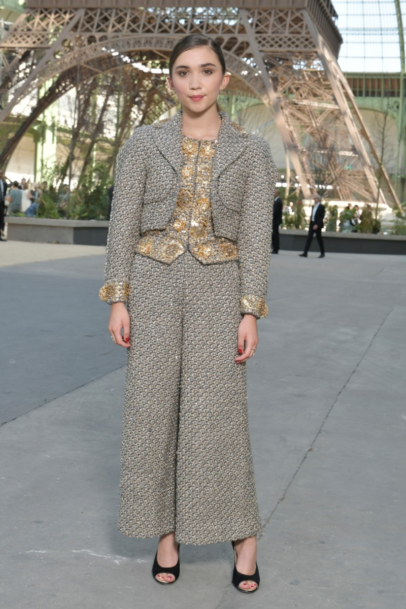 Chanel outfits on celebrities attending chanel haute for Haute couture in english