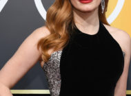 Jessica Chastain wears PIAGET  for the 75th Annual Golden Globe Awards