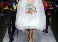 Gigi Hadid closed Moschino Runway Show in a bridal dress